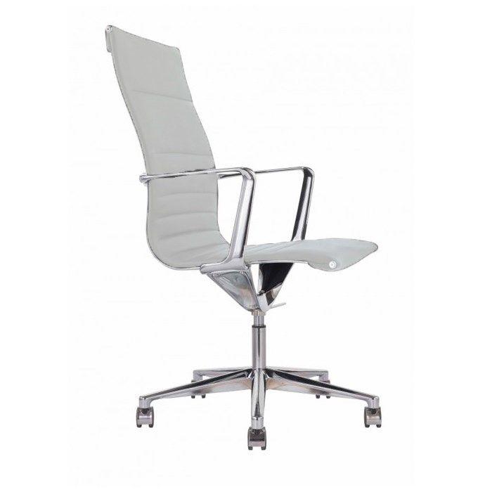 Bürostuhl 9040 Sophia Leder Weiß Antares Bueromoebel
