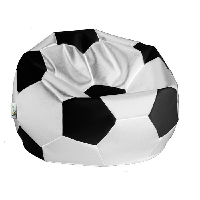 sitzsack fu ball xl 90 cm wei schwarz bueromoebel. Black Bedroom Furniture Sets. Home Design Ideas