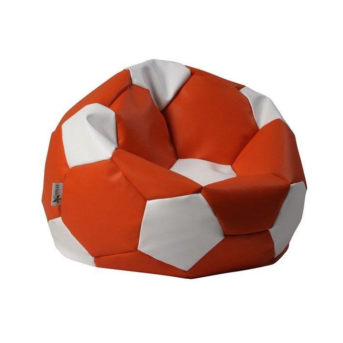 sitzsack fu ball xl 90 cm orange wei bueromoebel. Black Bedroom Furniture Sets. Home Design Ideas